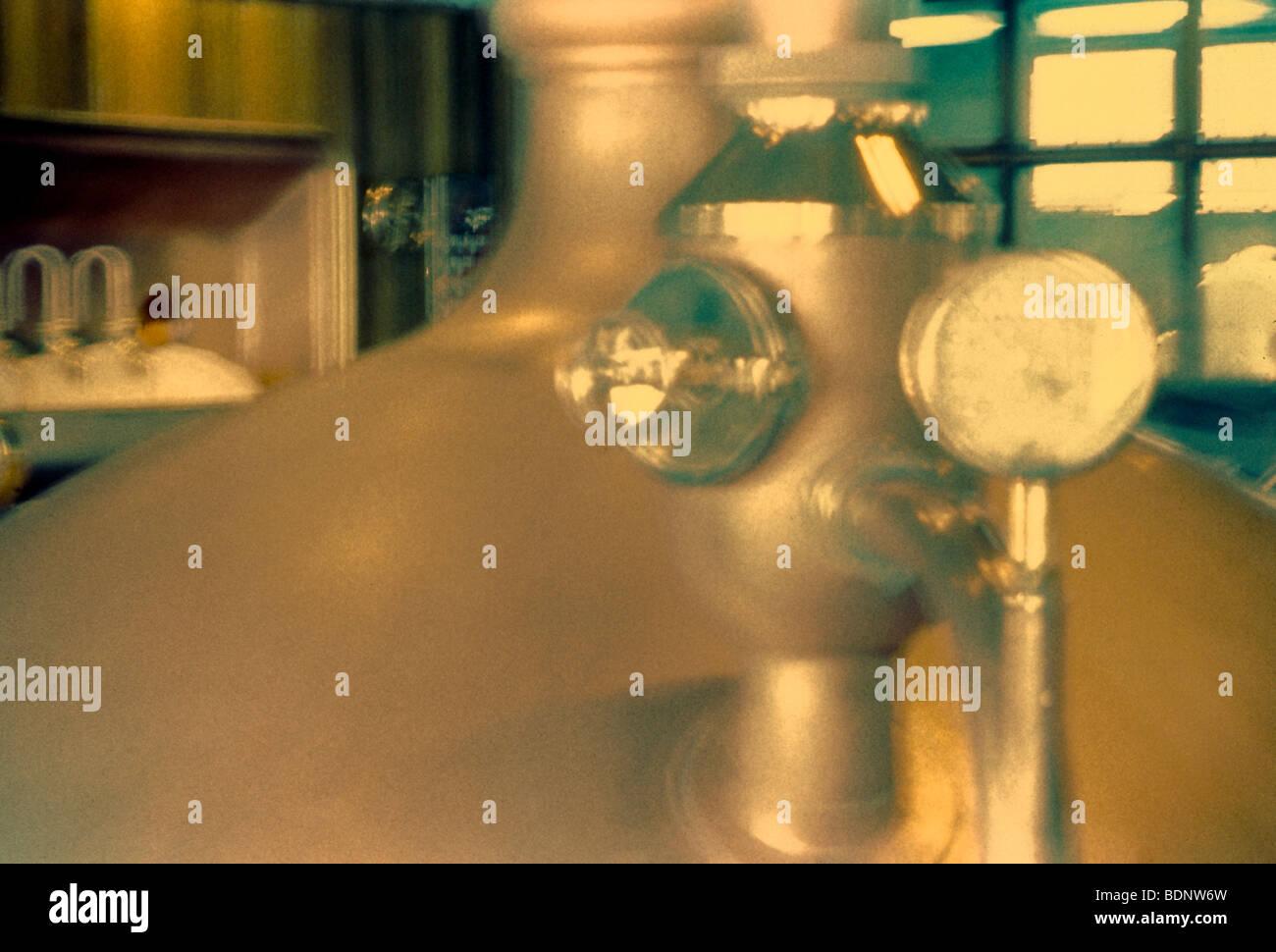Food manufacturing, brewery tanks. San Francisco Stock Photo