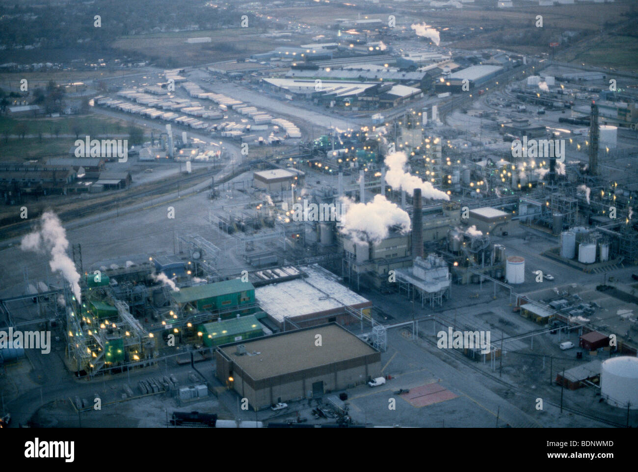 Power Plant, long beach, aearial view - Stock Image
