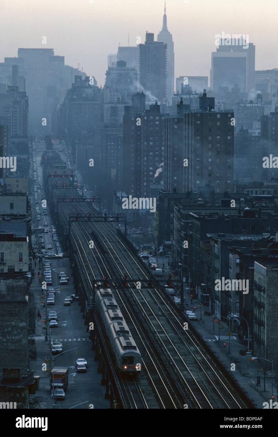 Harlem subway station, 125th Street station looking south, New York - Stock Image