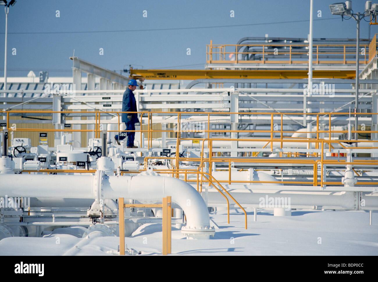 Oil storage facility, Manitoba, Canada - Stock Image