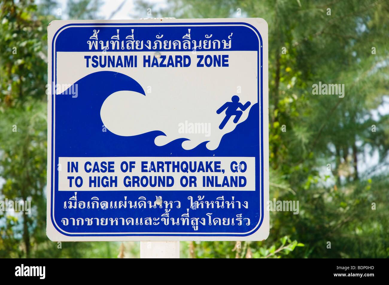 Tsunamivarning havd i thailand