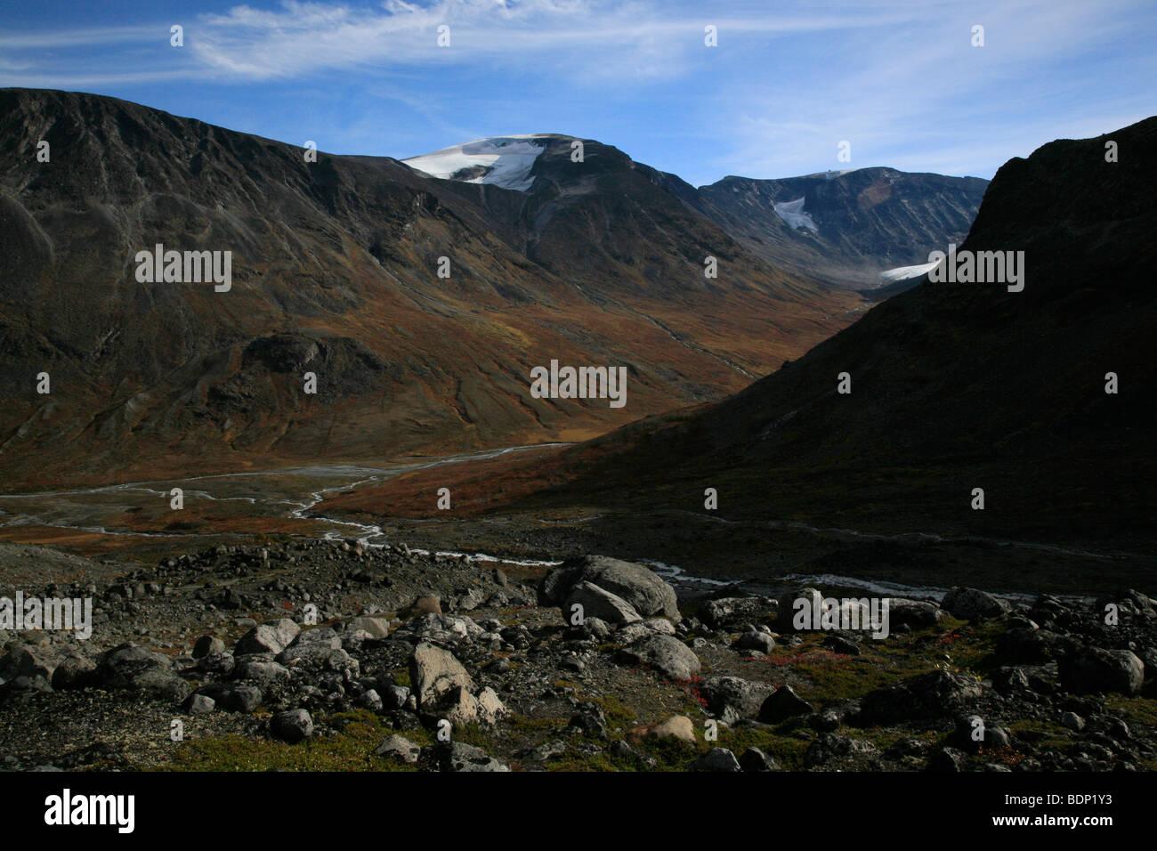 Visdalen Valley from Galdhøpiggen path in the Jotunheimen National Park, Oppland, Norway, Scandinavia, North - Stock Image
