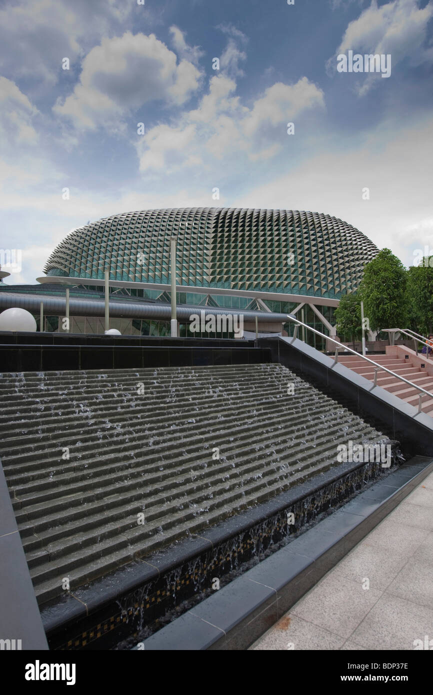 Cultural Center, 2002, the architecture resembles the durian fruit, Marina Bay, Singapore, Southeast Asia - Stock Image