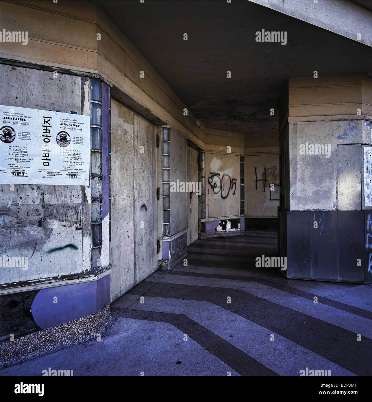 An Abandoned Movie Theater Box Office In Los Angeles USA