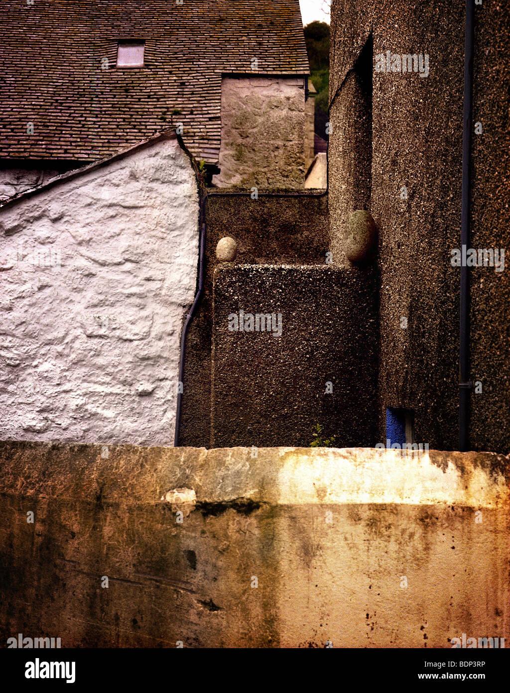 Cornish cottages - Stock Image