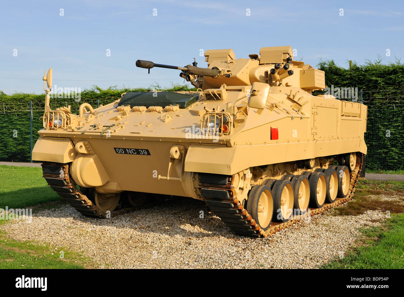 A British armored MCV-80 Warrior tank, England, UK, Europe - Stock Image