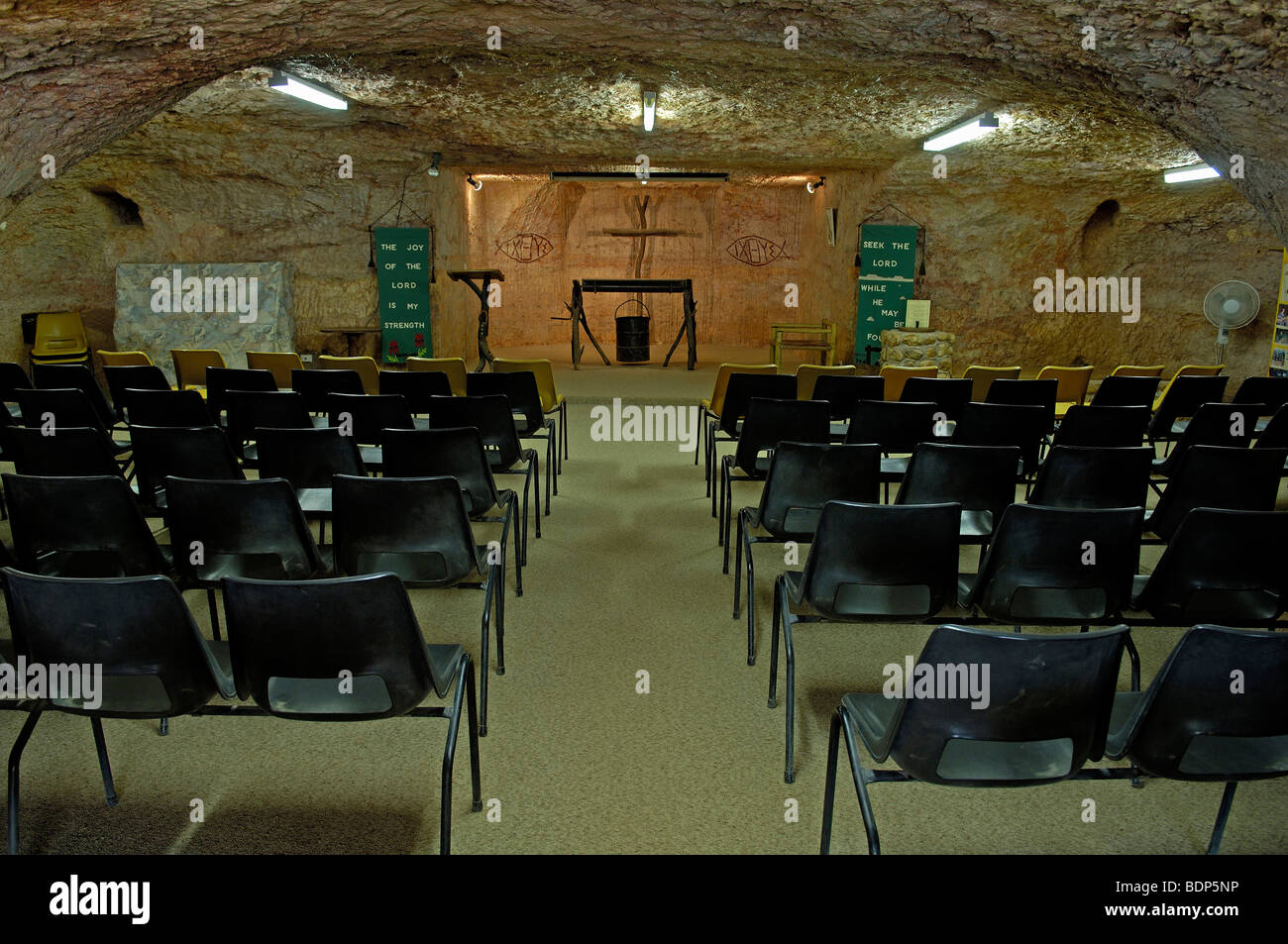 Underground church in Coober Pedy, South Australia, Australia - Stock Image
