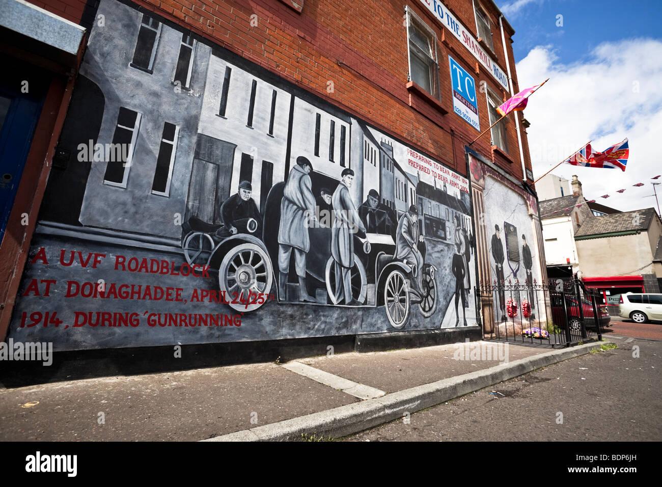 Murals on the Shankill Road,  Belfast, Northern Ireland - Stock Image