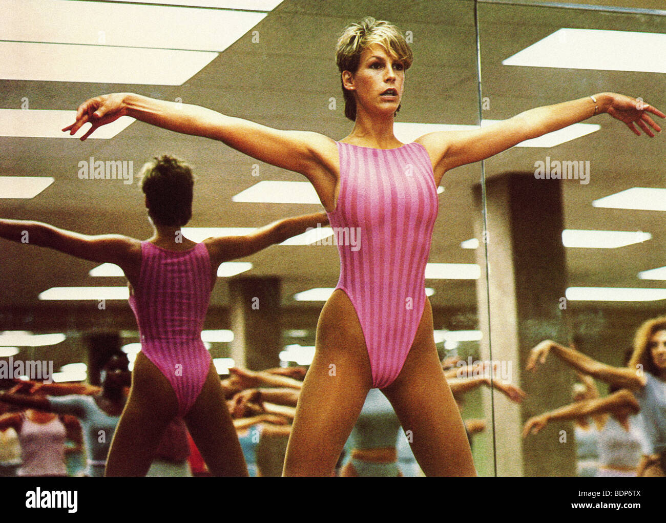perfect 1985 columbia film with jamie lee curtis stock