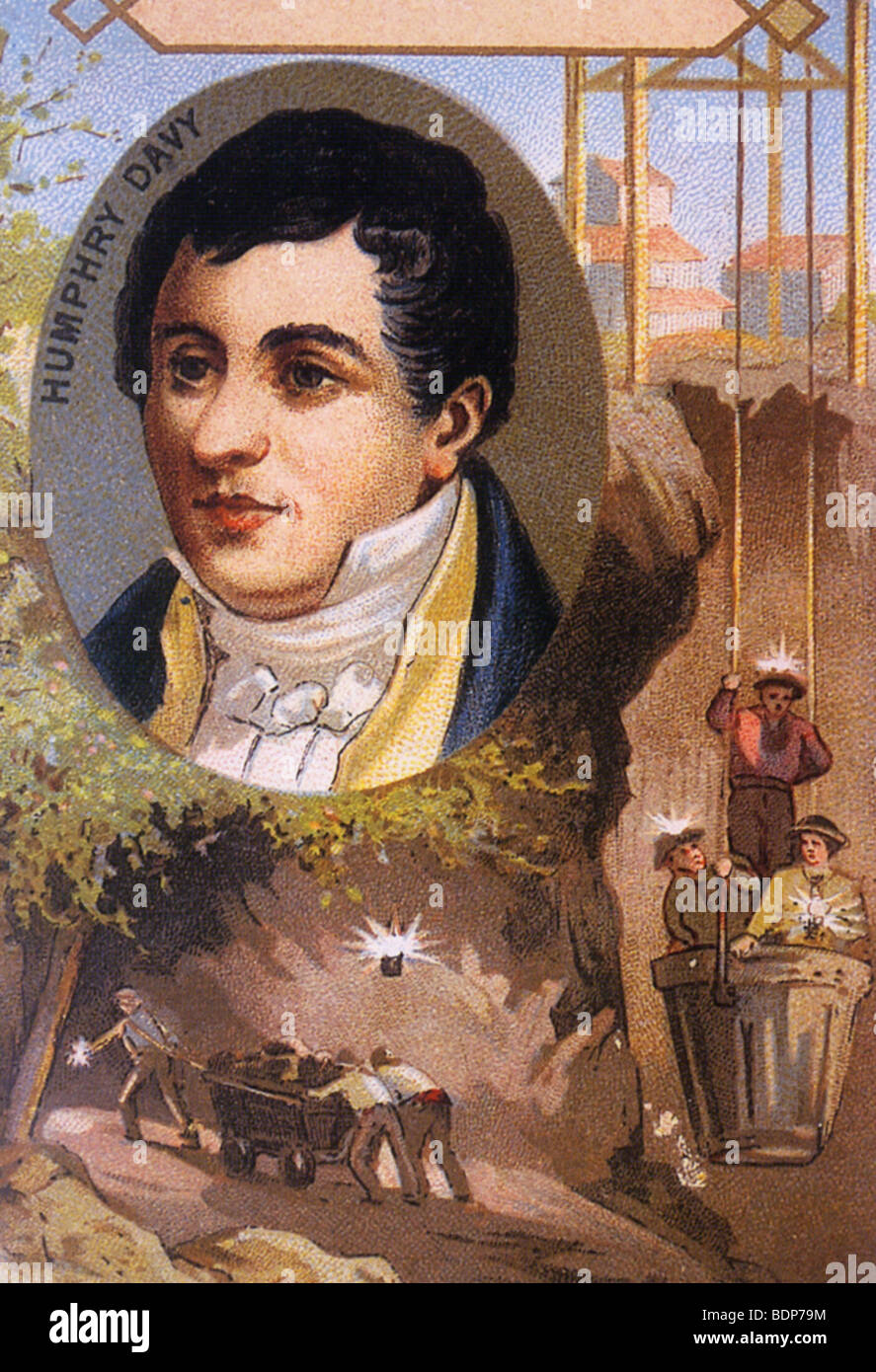 SIR HUMPHREY DAVY  English inventor of the mining safety lamp named after him Stock Photo