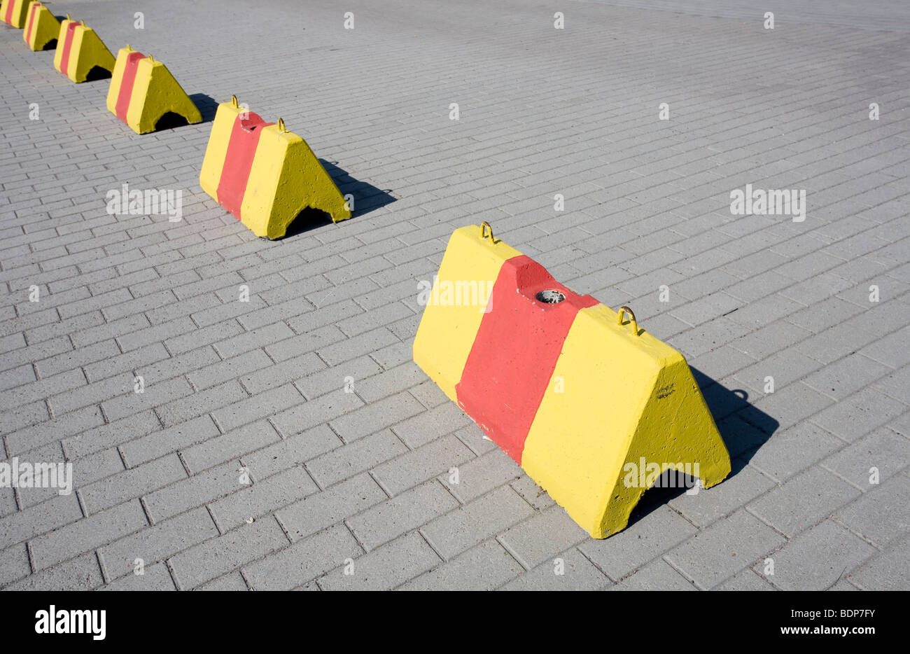 traffic obstacles - Stock Image