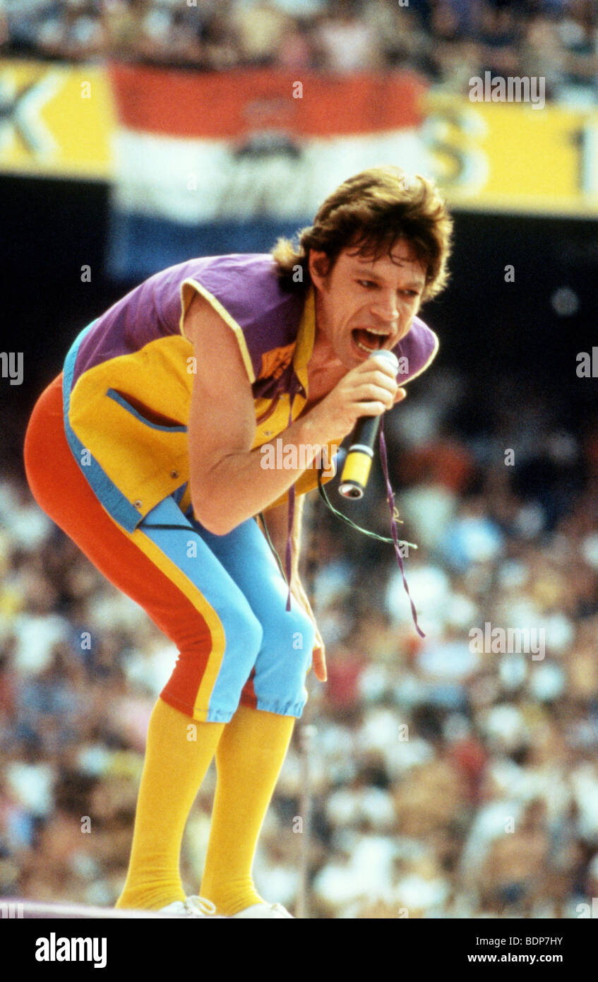 ROLLING STONES - Mick Jagger in 1982 - Stock Image