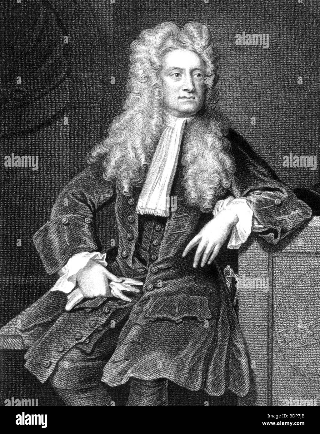SIR ISAAC NEWTON  - English scientist and mathematician 1642-1727 - Stock Image