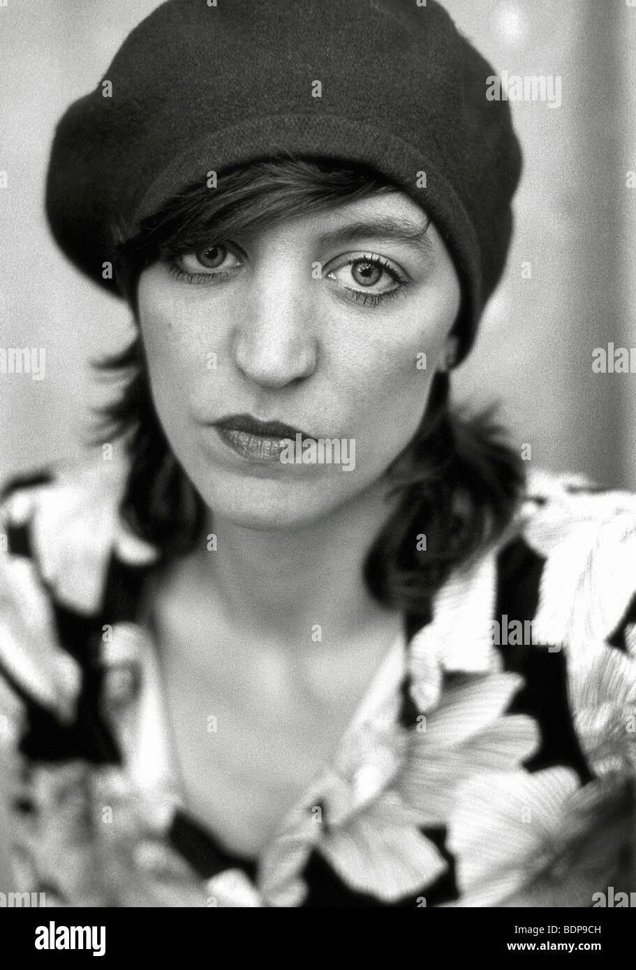 a middle aged woman wearing a hat lookig directly at the camera - Stock  Image 2a9cc8e0d0bc