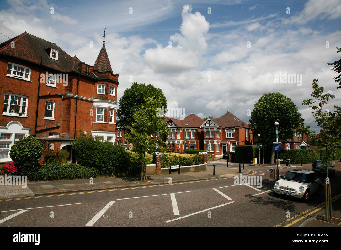 Junction of Dartmouth Road and Lydford Road, Willesden Green, London, UK - Stock Image