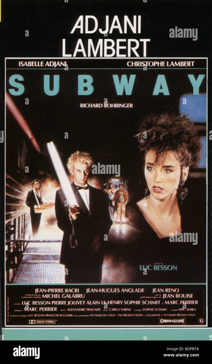 Subway   Year: 1985   Christophe Lambert, Isabelle Adjani    Director: Luc Besson   Movie poster Stock Photo