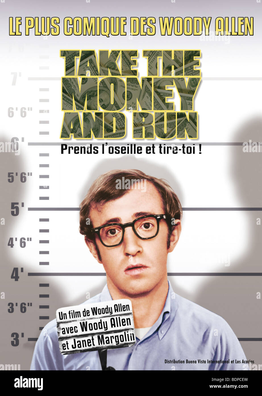 Take The Money And Run Year : 1969 Director : Woody Allen Woody Allen Movie poster (Fr) - Stock Image