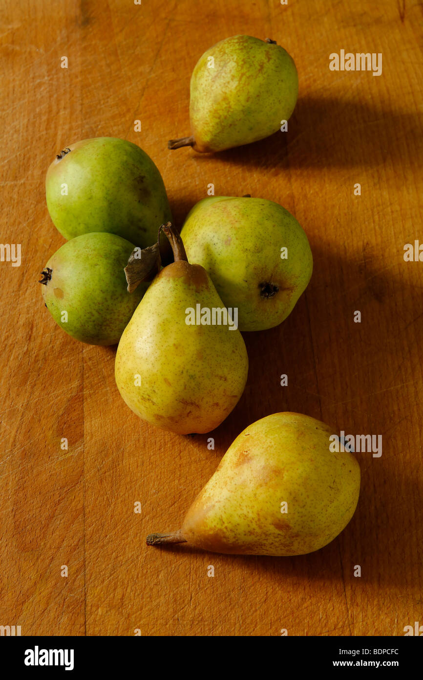 Home grown pears - Stock Image