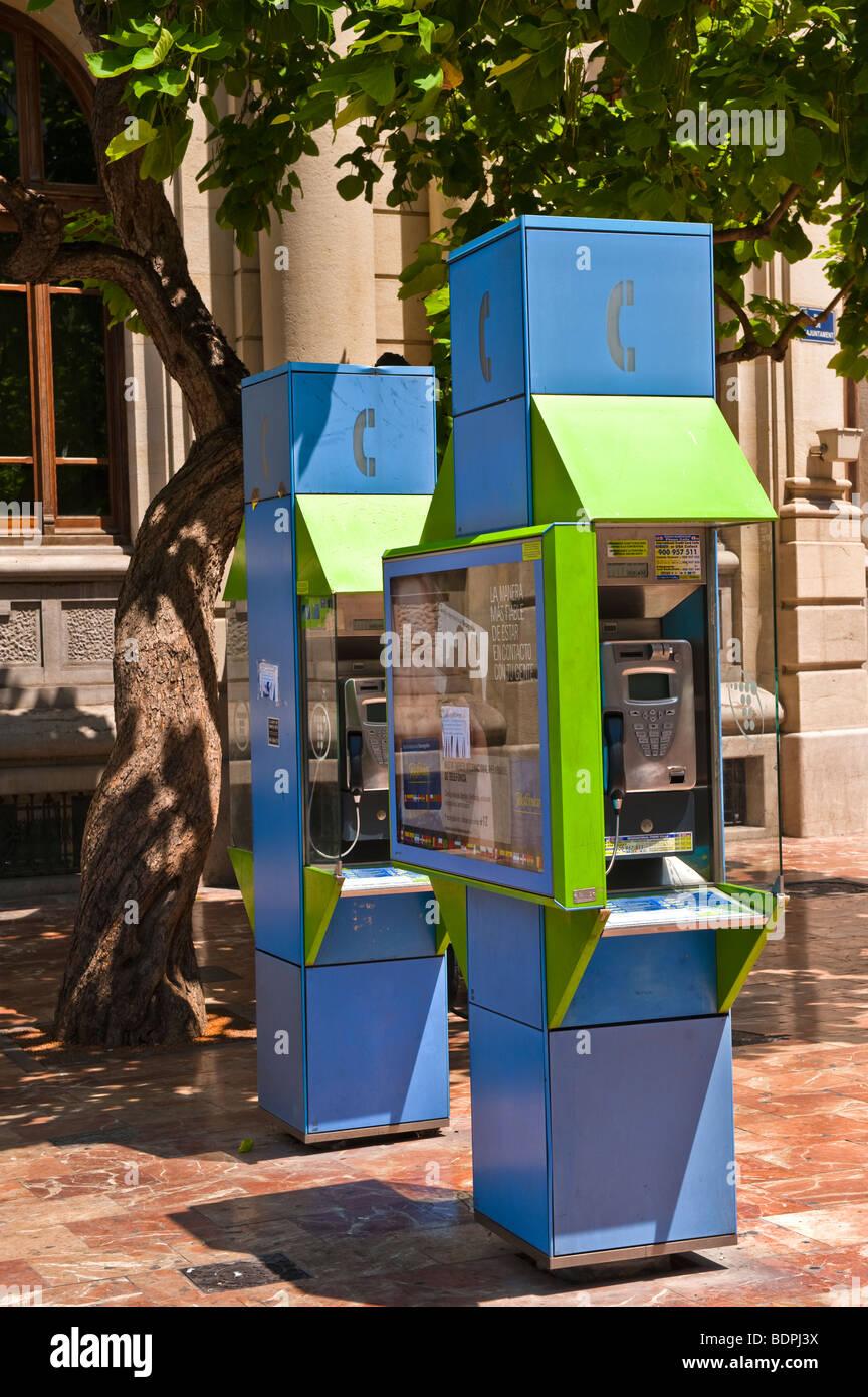 Spanish telephone kiosks - Stock Image