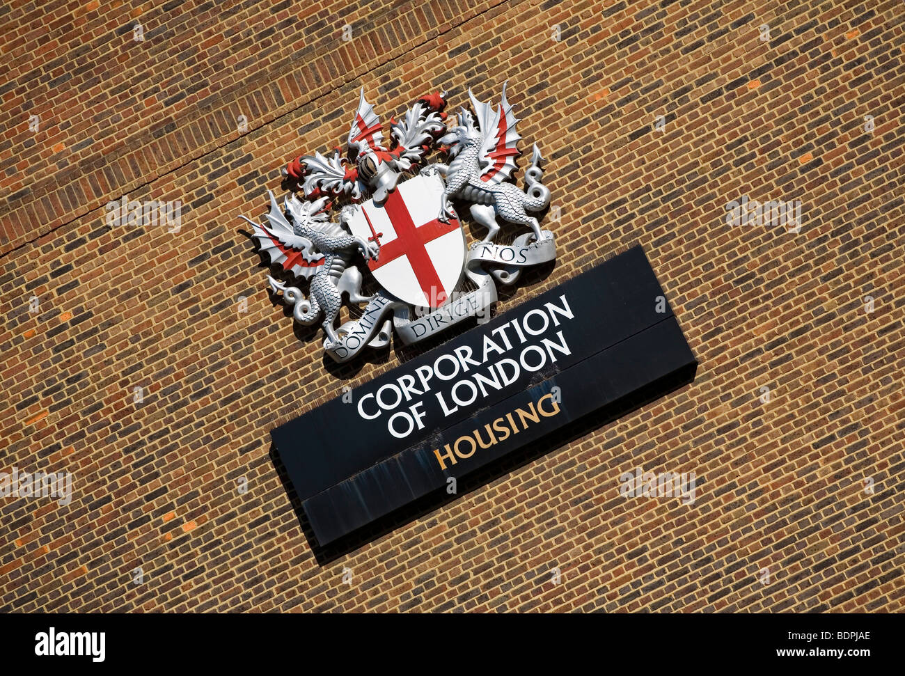 Corporation of London housing sign - Stock Image