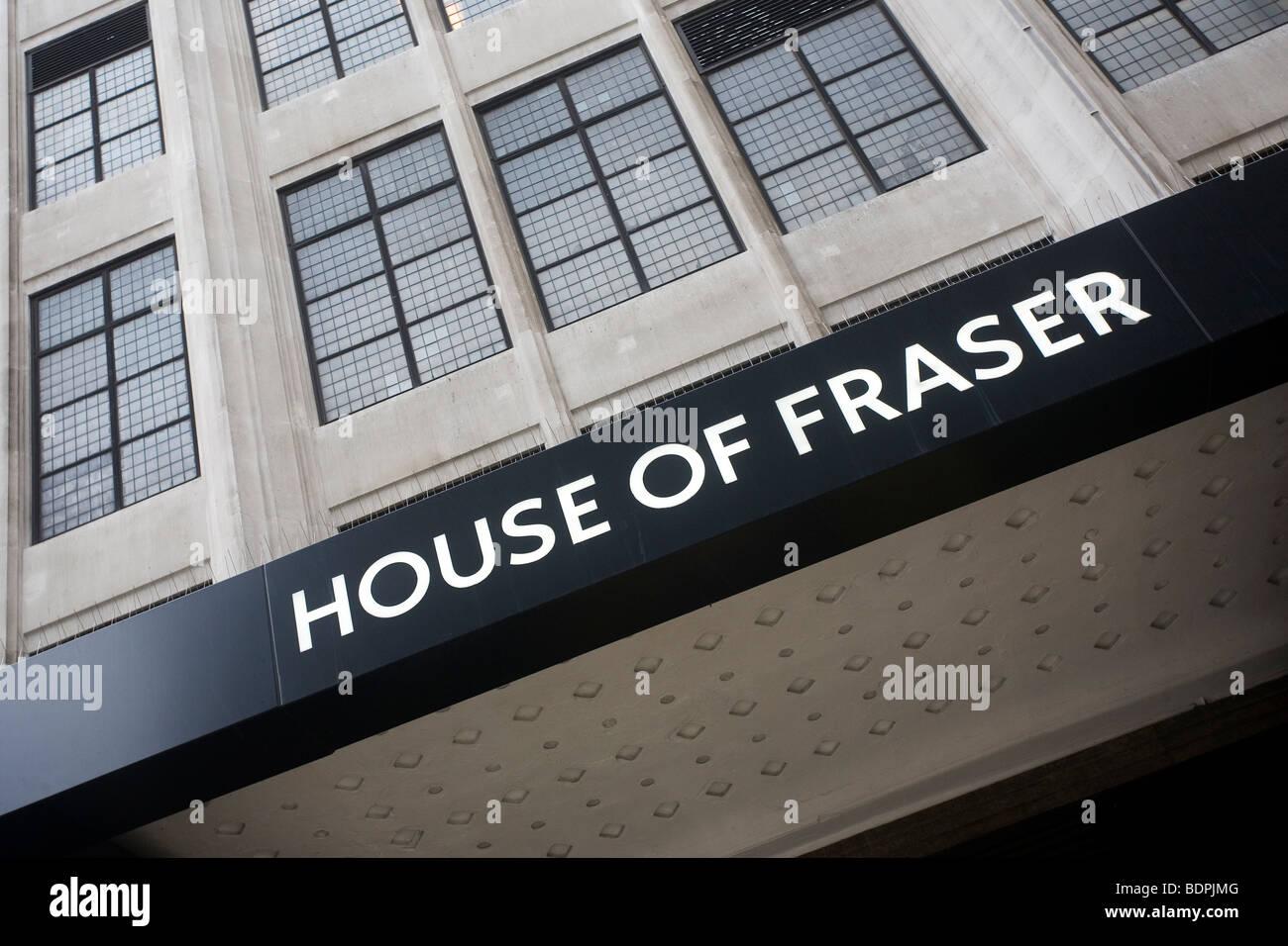 House of Fraser shop sign - Stock Image