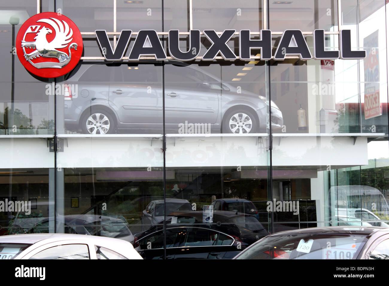 Vauxhall showroom Birmingham, 2009 - Stock Image