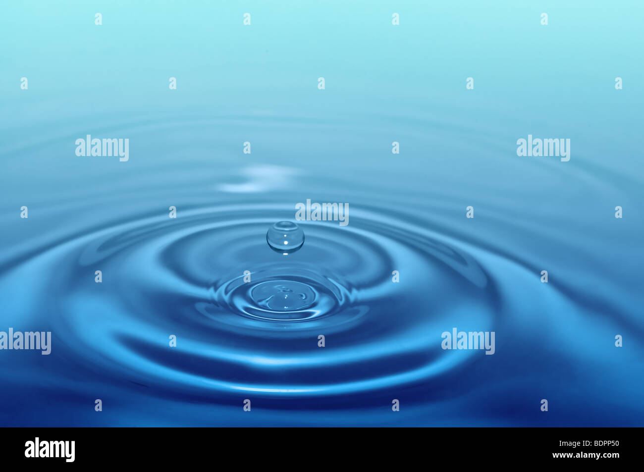 splash water drop for concept design - Stock Image