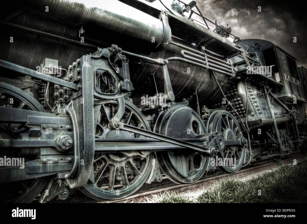 An old locomotive train - Stock Image