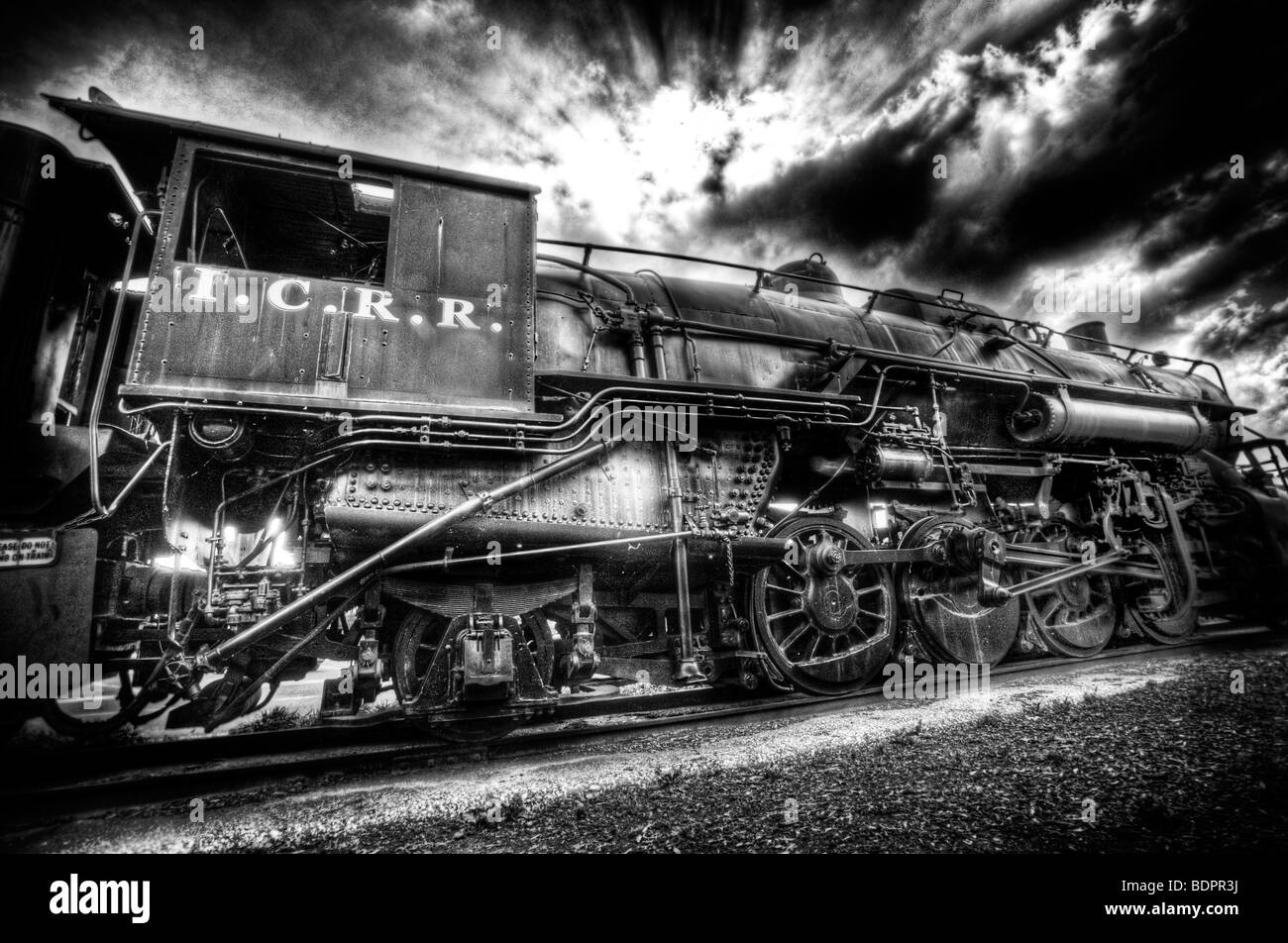 An old locomotive engine - Stock Image