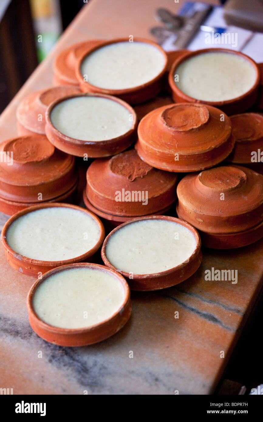 Firni Indian Rice Dessert in Calcutta India - Stock Image