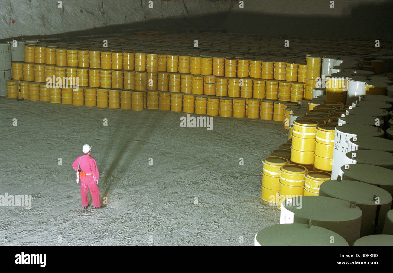 Radioactive waste repository Stock Photo