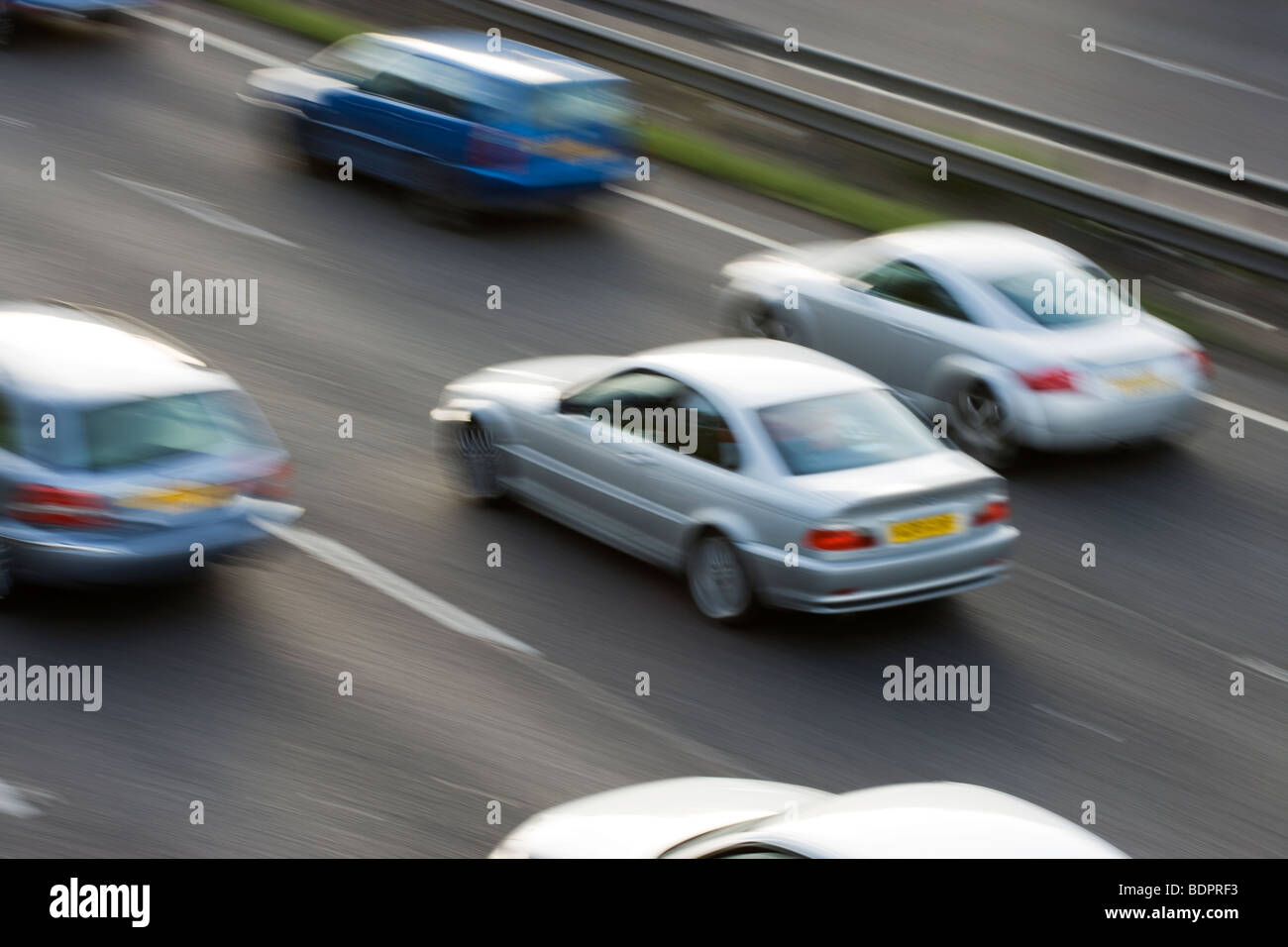 Cars on motorway. UK - Stock Image