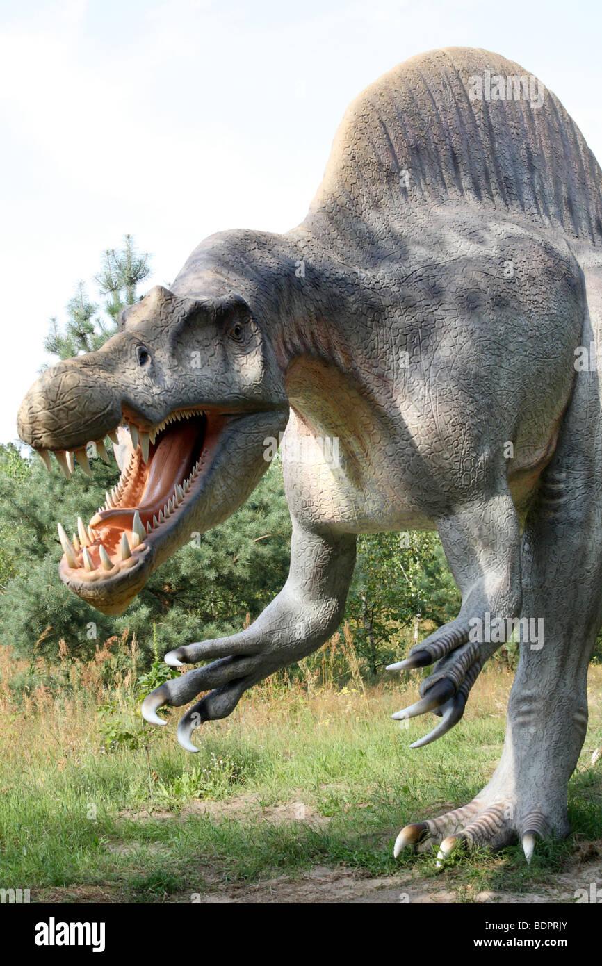Spinosaurus, Prehistoric Park, real size replica, 2009 - Stock Image