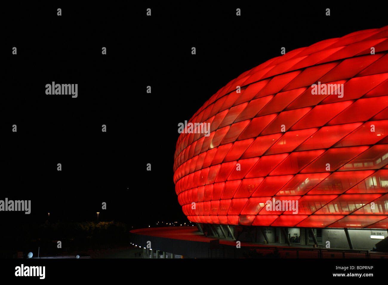 Allianz Arena in Munich Germany at night - Stock Image