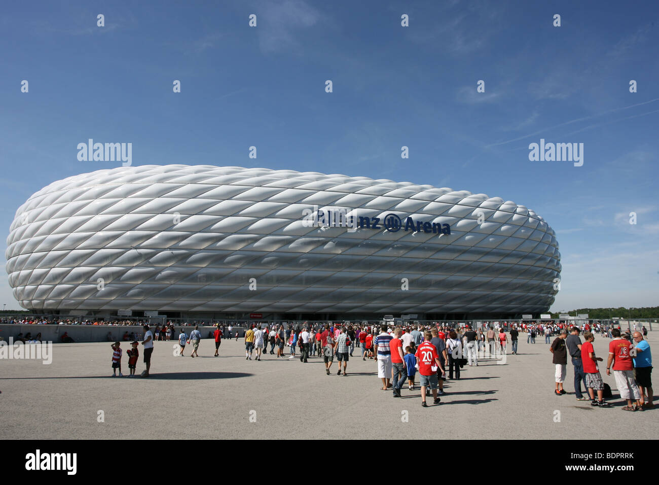 The Allianz Arena in Munich, Germany - Stock Image