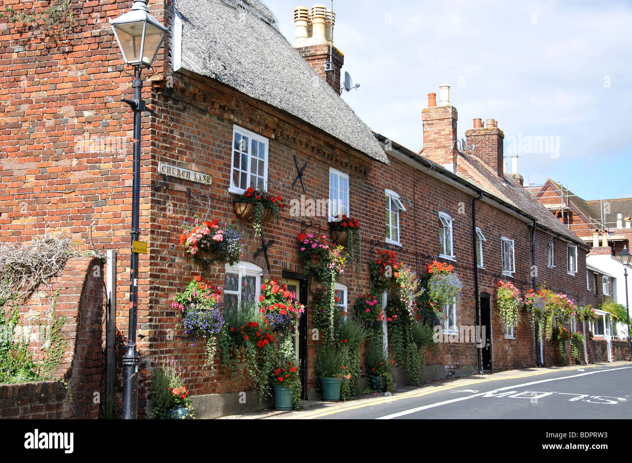 Church Lane, Christchurch, Dorset, England, United Kingdom - Stock Image