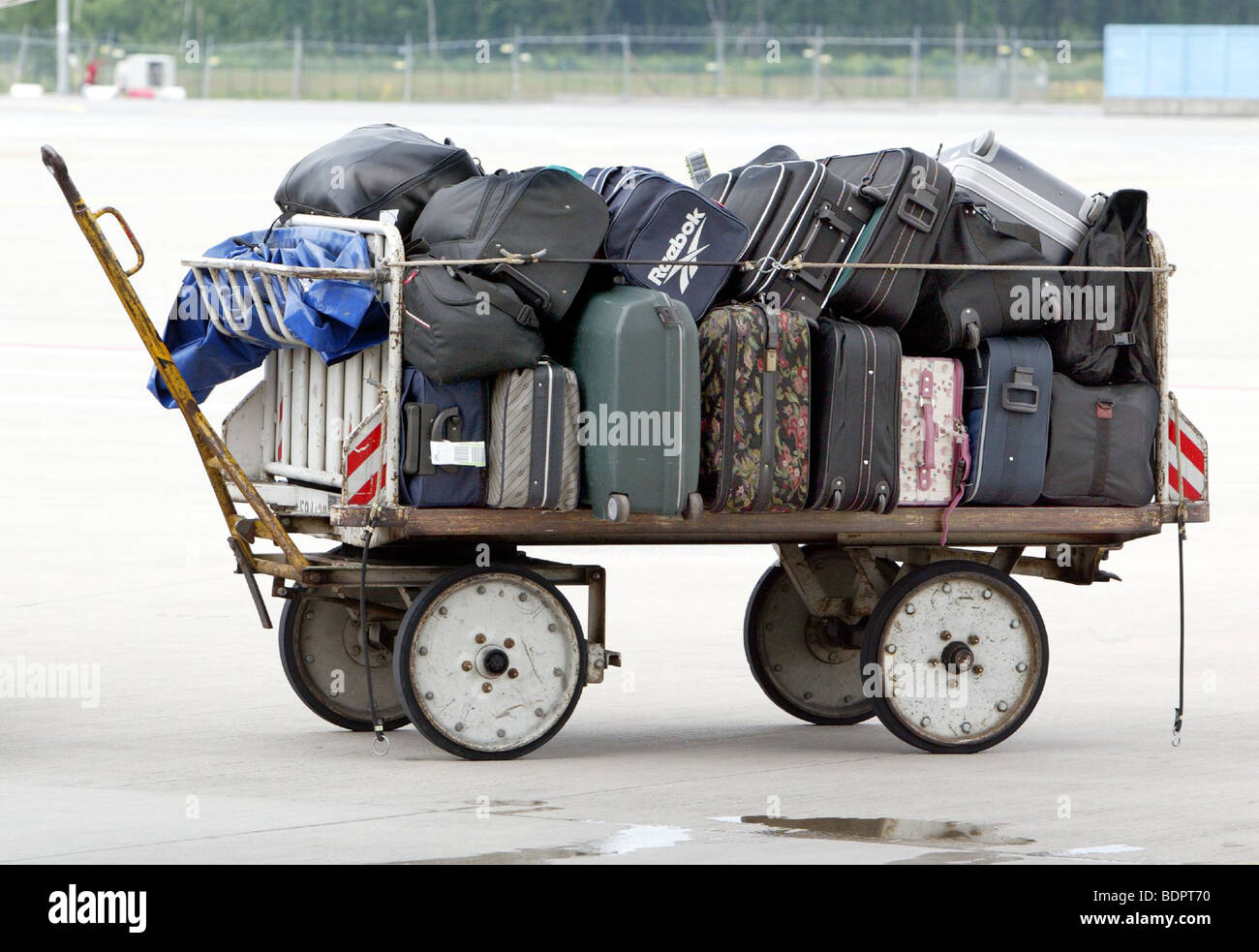 Baggage at the airport Stock Photo