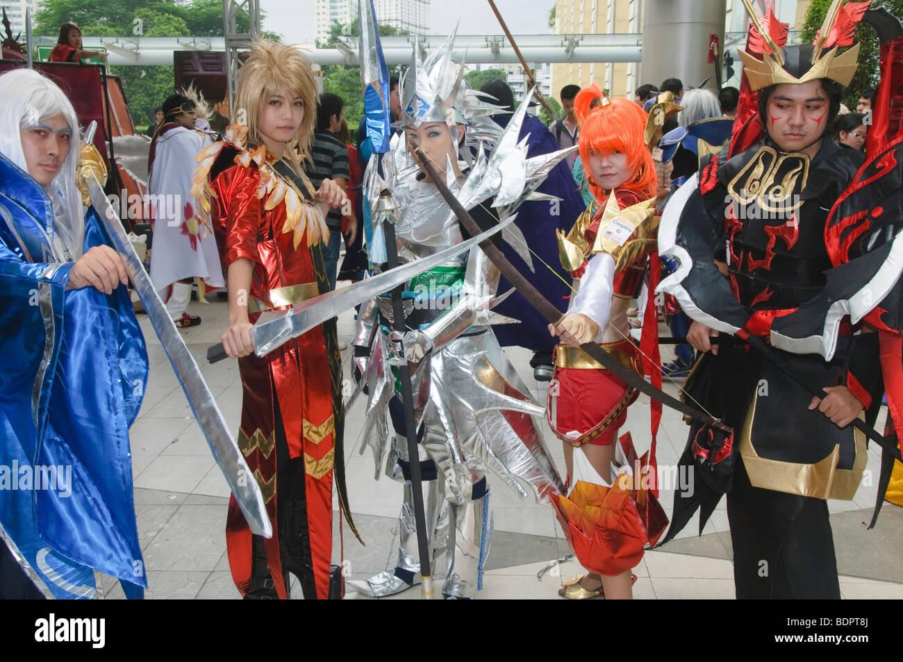 models at Japanese Cosplay festival in Bangkok Thailand - Stock Image