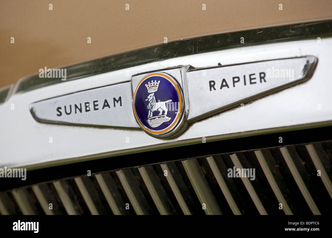 Sunbeam car badge - Stock Image