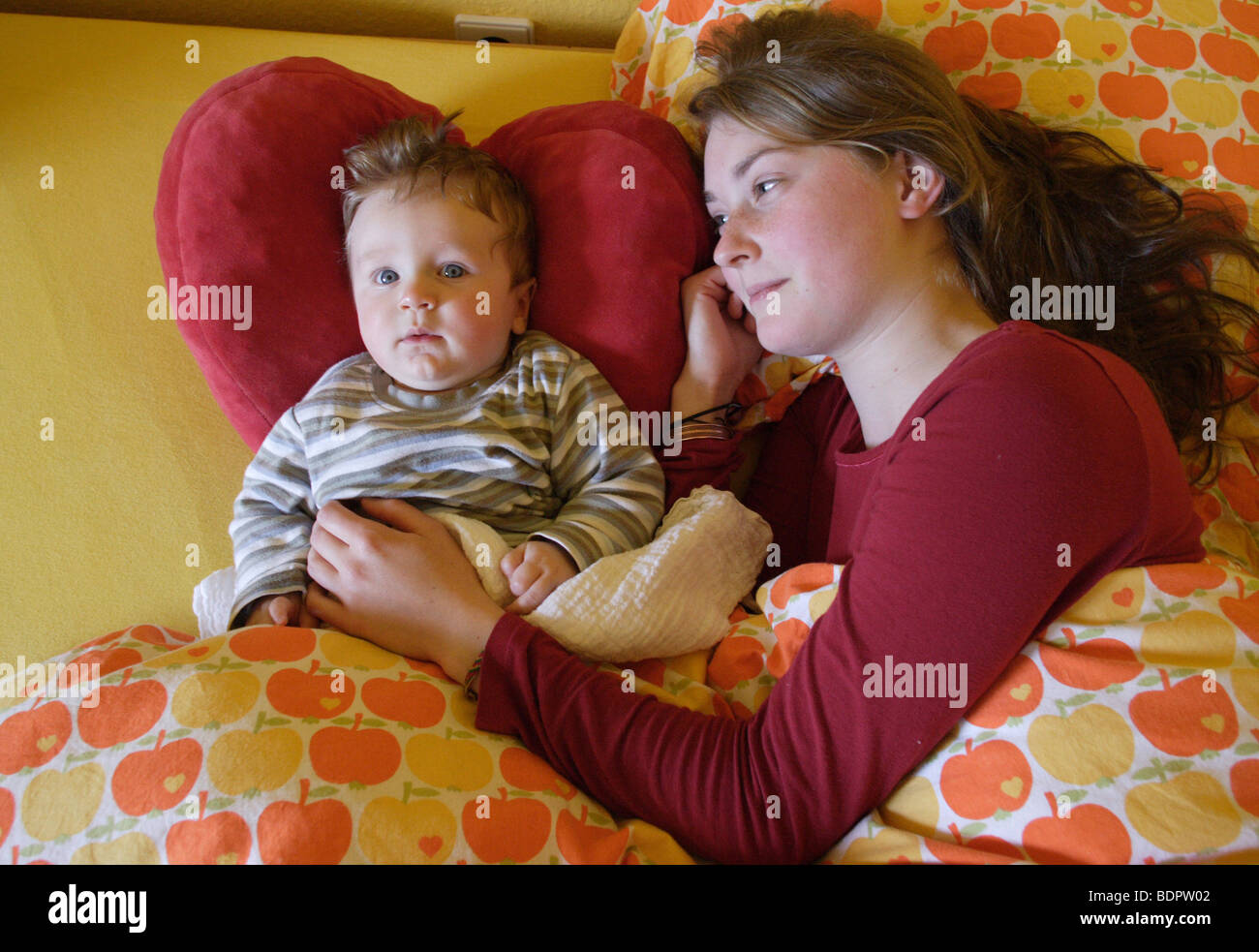 Young mother with baby - Stock Image