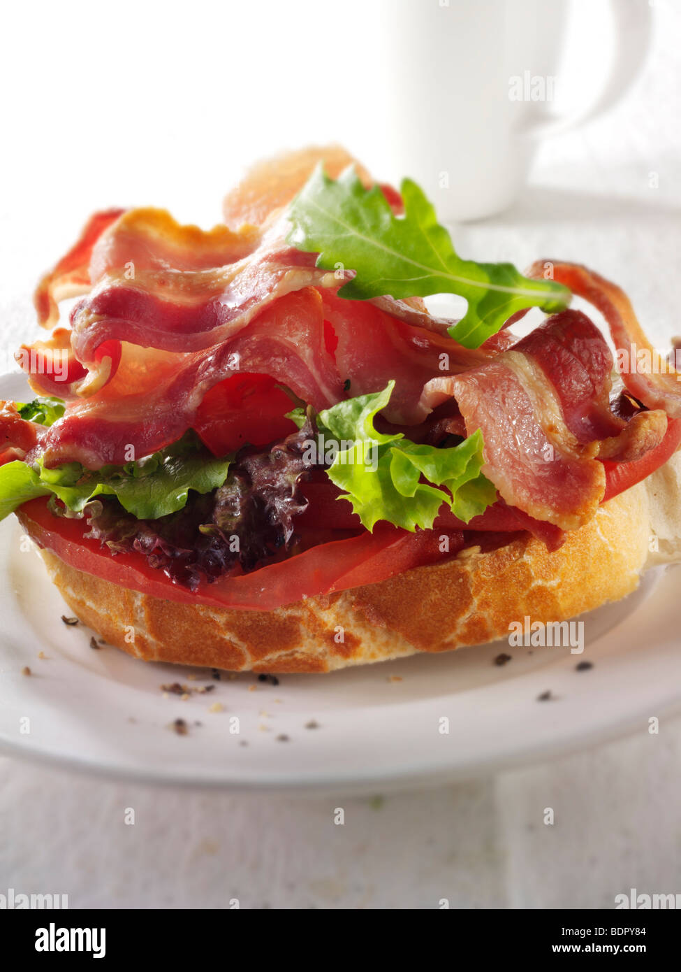 Bacon lettuce and tomato, BLT, sandwich - Stock Image