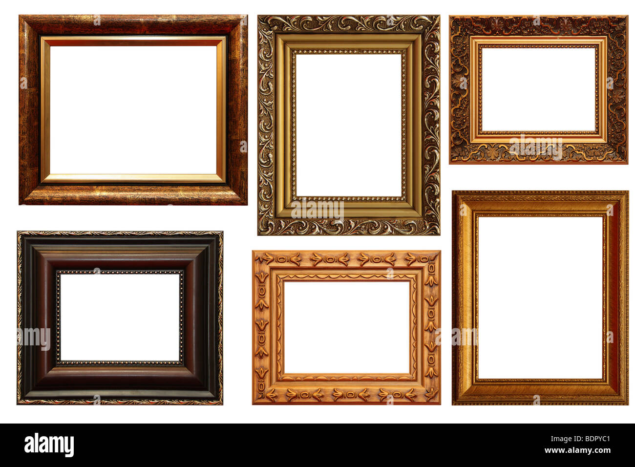 Lots Of Frames Isolated On White Background Stock Photo 25705345