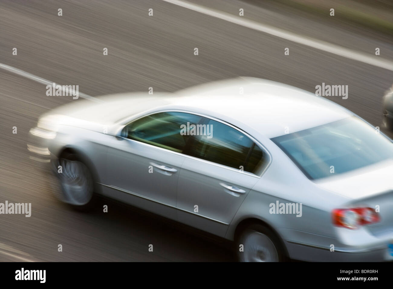 Car on motorway. UK - Stock Image