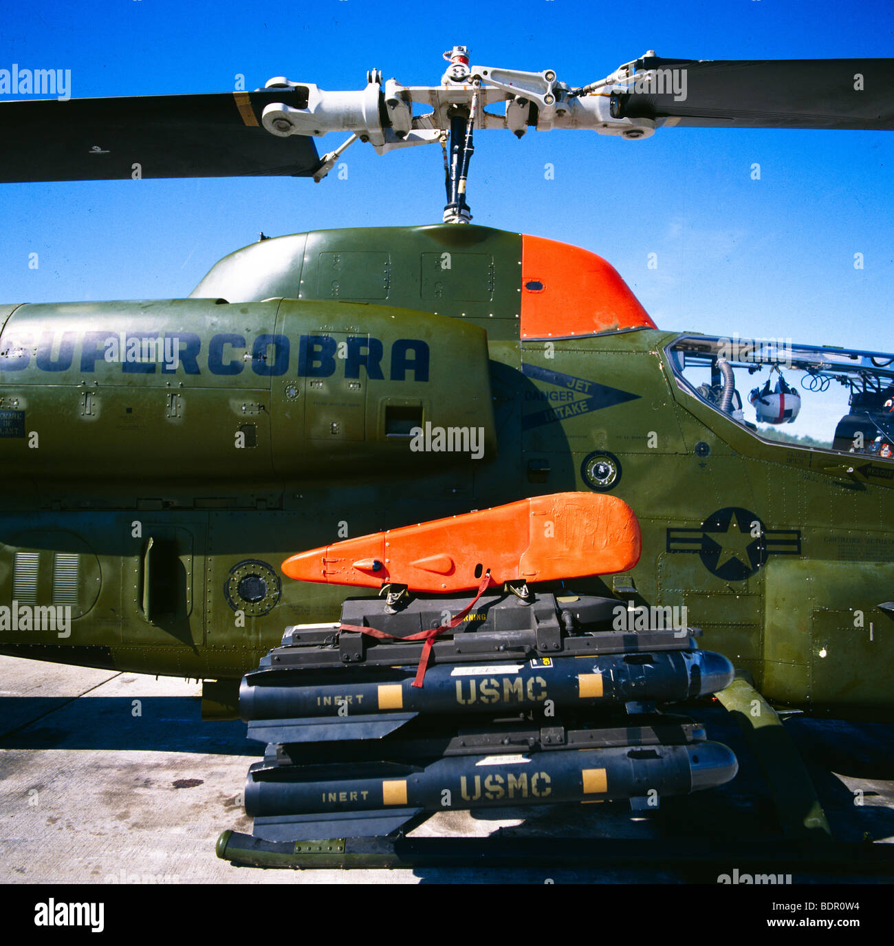 Supercobra Helicopter at manufacturing facility in Dallas Texas - Stock Image