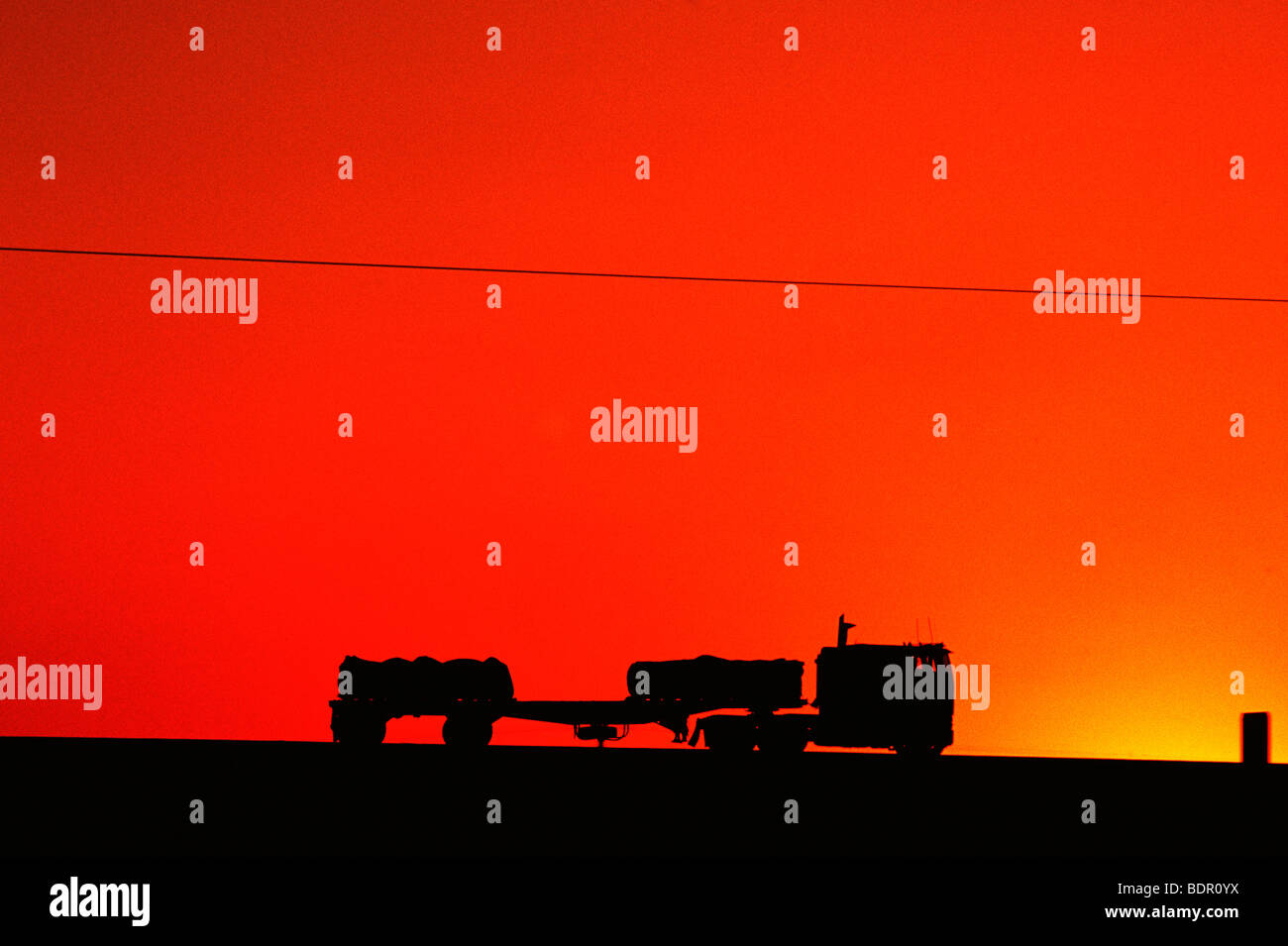Trucking in Cetral California Valley - Stock Image