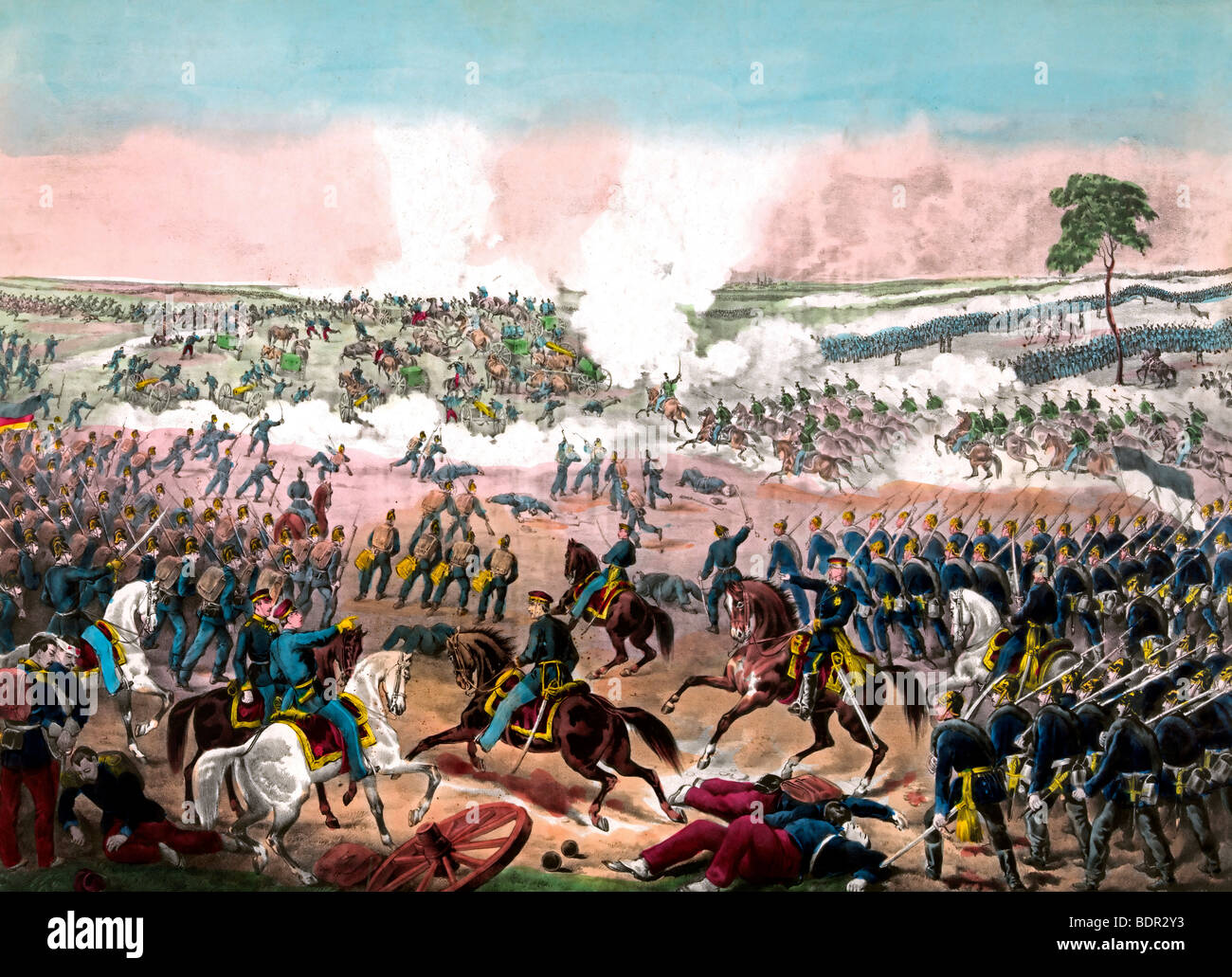 The Battle of Weissenburg during the Franco-Prussian War - 4th August 1870 - Stock Image
