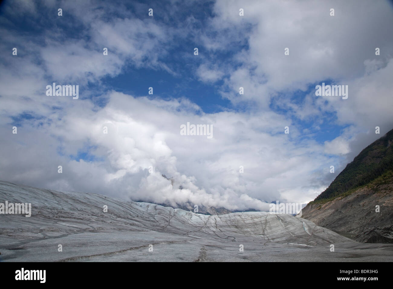 Kennicott, Alaska - The Root Glacier in Wrangell-St. Elias National Park. - Stock Image