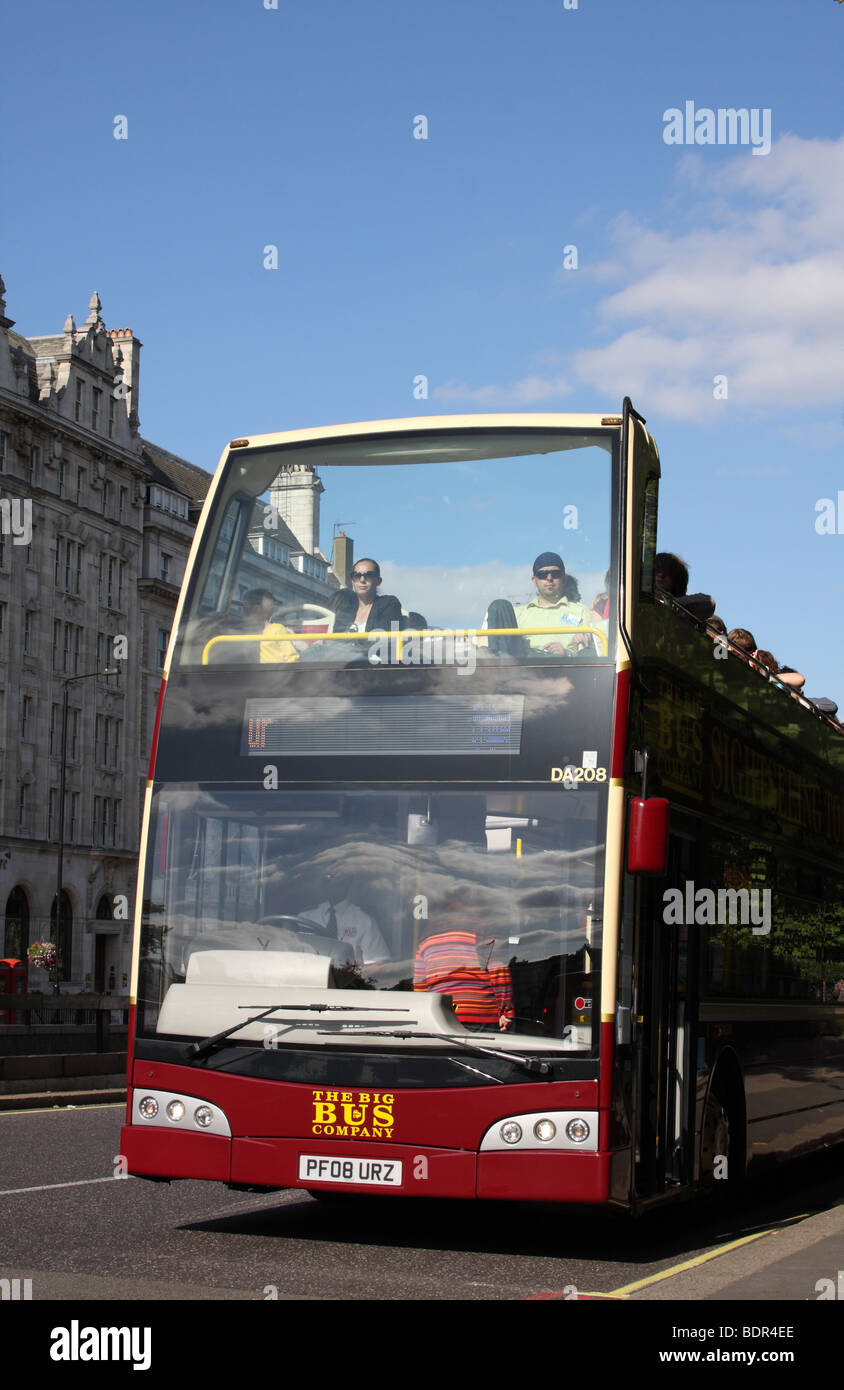 The Big Bus Company open top sightseeing tour bus in London, England, U.K. - Stock Image