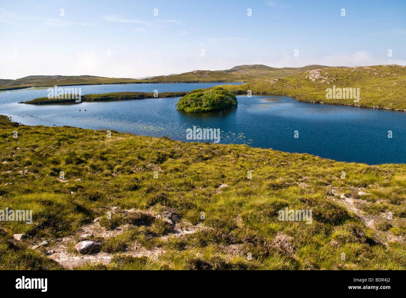 One of the many lochs (lakes) near Cove, Scotland, UK - Stock Image