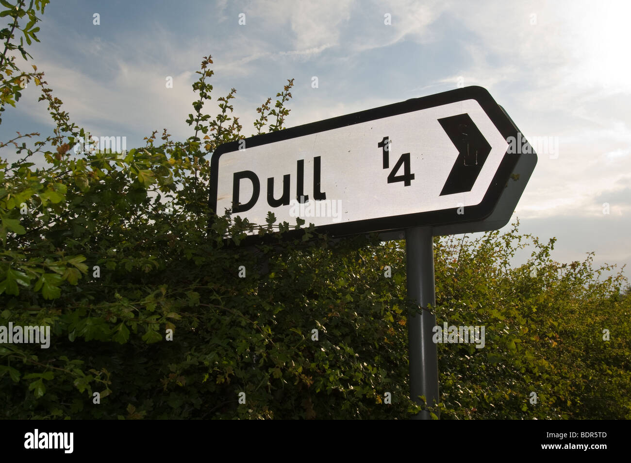 Dull village sign, Dull, Scotland, UK - Stock Image